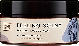Parfémy, Parfumerie, kosmetika Solný peeling na tělo Acai bobule - Nature Queen Body Scrub