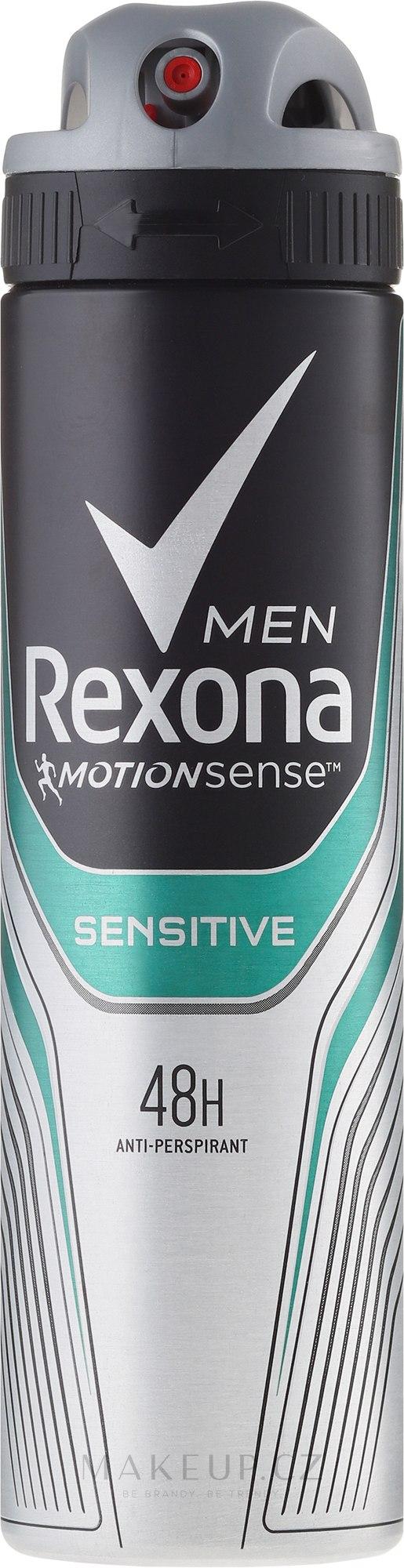 """Deodorant-sprej pro muže """"Sensitive"""" - Rexona Deodorant Spray — foto 150 ml"""