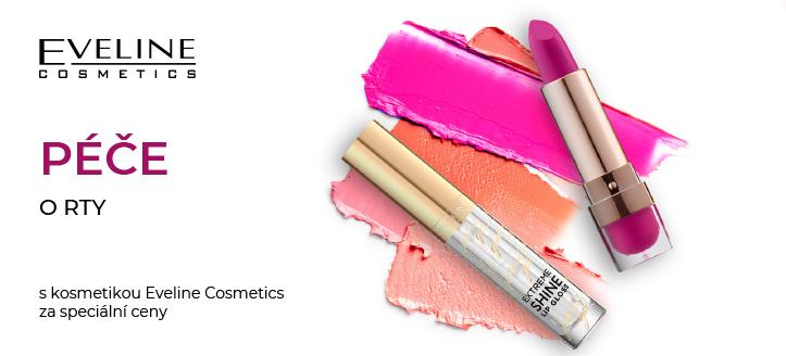 Sleva až -5% na vybrané produkty dekorativní kosmetiky na rty Eveline Cosmetics. Ceny na webu jsou uvedeny po slevě