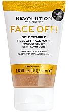 Parfémy, Parfumerie, kosmetika Pleťová peeling-maska - Revolution Skincare Face Off! Gold Glitter Face Off Mask