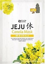 Parfémy, Parfumerie, kosmetika Látková hydratační maska  - SNP Jeju Rest Canola Mask