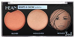 Parfémy, Parfumerie, kosmetika Paleta na kontury obličeje - Hean Shape & Glow Palette