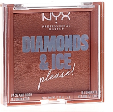 Parfémy, Parfumerie, kosmetika Rozjasňovač na obličej a tělo - NYX Professional Makeup Diamonds & Ice Face And Body Illuminator