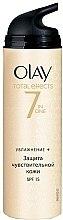 Parfémy, Parfumerie, kosmetika Denní hydratační krém - Olay Total Effects Day Cream Sensitive SPF15