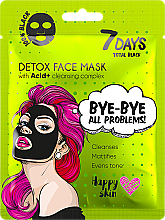 Parfémy, Parfumerie, kosmetika Pleťová maska - 7 Days Total Black Bye bye All Problems Detox Face Mask