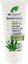 Parfémy, Parfumerie, kosmetika Krém na ruce a nehty Olej konopí - Dr. Organic Hemp Oil Intensive Hand & Nail Treatment