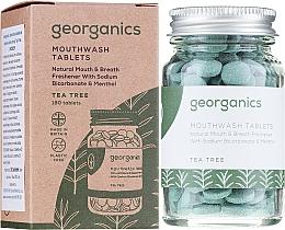 Parfémy, Parfumerie, kosmetika Tablety pro čištění zubů Čajový strom - Georganics Natural Mouthwash Tablets Tea Tree