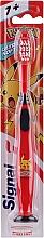Parfémy, Parfumerie, kosmetika Dětský zubní kartáček s pokémonem, červený - Signal Kids Ultra Soft 7+ Years