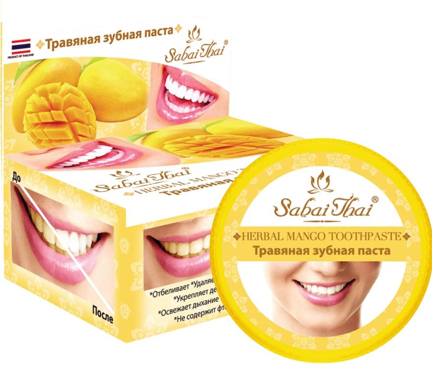 Zubní pasta s mangem - Sabai Thai Herbal Mango Toothpaste