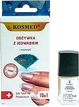Parfémy, Parfumerie, kosmetika Hedvábný nehetový kondicionér 10v1 - Kosmed Silk Nail Conditioner