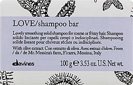Parfémy, Parfumerie, kosmetika Vyhlazující tuhý šampon pro hrubé a vlnité vlasy - Davines Essential Haircare Love Smooth Shampoo Bar