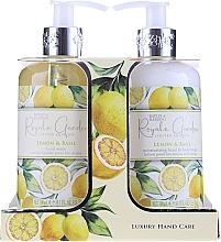 Parfémy, Parfumerie, kosmetika Sada - Baylis & Harding Royale Garden Lemon & Basil (l/soap/300ml + b/lot/300ml)