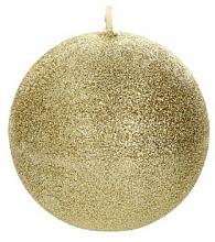 Parfémy, Parfumerie, kosmetika Dekorativní svíčka, koule, zlatá, 8 cm - Artman Glamour