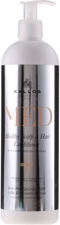 Vyživující kondicionér na vlasy a pokožku hlavy - Kallos Cosmetics MED Healthy Scalp & Hair Conditioner — foto N2