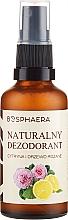 Parfémy, Parfumerie, kosmetika Přírodní deodorant s citronem a růží - Bosphaera
