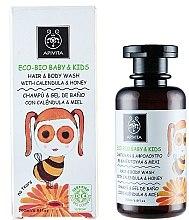 Parfémy, Parfumerie, kosmetika Jemný čisticí prostředek pro tělo a vlasy s měsíčkem a medem - Apivita Babies & Kids Eco Bio Baby Kids Hair & Body Wash With Calendula & Honey