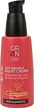 Parfémy, Parfumerie, kosmetika Noční pleťový krém - GRN Rich Elements Argan Oil & Olive Night Cream