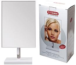 Parfémy, Parfumerie, kosmetika Kosmetické zrcátko s rámem a kovovým stojanem, 16x30 cm - Titania
