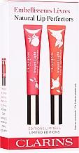 Parfémy, Parfumerie, kosmetika Sada - Clarins Natural Lip Perfector Set Limited Edition (lip/gloss/2x12ml)