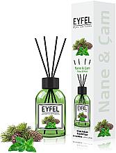 "Parfémy, Parfumerie, kosmetika Aroma difuzér ""Máta"" - Eyfel Perfume Reed Diffuser Mint"