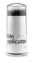 Parfémy, Parfumerie, kosmetika Mikroaplikátory na řasy, černé, 100 ks - Lewer Micro Applicators