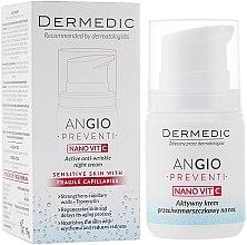 Parfémy, Parfumerie, kosmetika Aktivní noční krém proti vráskám na plet' náchylnou k zarudnutí - Dermedic Angio Preventi Active Anti-Wrinkle Night