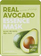 Parfémy, Parfumerie, kosmetika Plátýnková pleťová maska s avokádovým extraktem - FarmStay Real Avocado Essence Mask