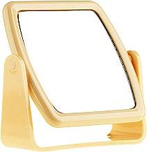 Parfémy, Parfumerie, kosmetika Zrcadlo na podstavci 85727, čtvercové, žluté - Top Choice Beauty Collection Mirror
