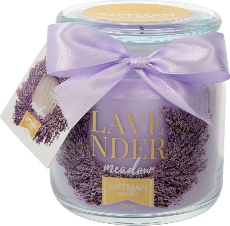 Aromatická svíčka, 10x11 cm., 360g. - Artman Lavender Meadow — foto N1