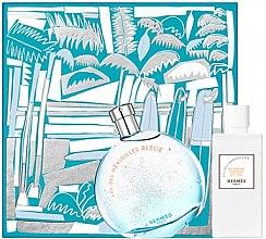 Parfémy, Parfumerie, kosmetika Hermes Eau des Merveilles Bleue - Sada (edt/100ml + b/lot/80ml)