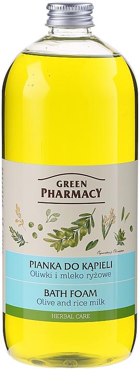 Pěna do koupele Oliva a rýžové mléko - Green Pharmacy