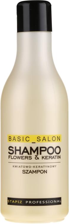 Šampon na vlasy Květiny a keratin - Stapiz Basic Salon Shampoo Flowers&Keratin