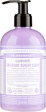 Parfémy, Parfumerie, kosmetika Cukrové tekuté mýdlo Levandule - Dr. Bronner's Organic Sugar Soap Lavender
