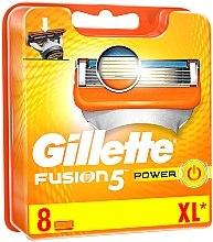 Parfémy, Parfumerie, kosmetika Vyměnitelné kazety na holení, 8 ks. - Gillette Fusion Power