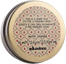 Parfémy, Parfumerie, kosmetika Vosk pro lesk a vyhlazení vlasů - Davines More Inside This Is A Shine Wax