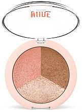 Parfémy, Parfumerie, kosmetika Pudr na obličej 3v1 - Golden Rose Nude Look