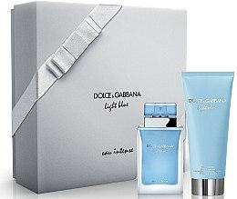 Parfémy, Parfumerie, kosmetika Dolce & Gabbana Light Blue Eau Intense - Sada (edp/50ml + b/cr/100ml)