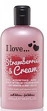 Parfémy, Parfumerie, kosmetika Sprchový krém a pěna do koupele - I Love... Strawberries & Cream Bubble Bath And Shower Creme