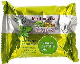 """Parfémy, Parfumerie, kosmetika Organické mýdlo s vůní máty """"Zelená hlína"""" - Ma Provence Nature Soap"""