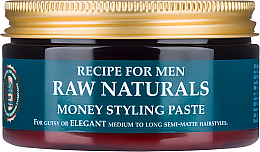 Parfémy, Parfumerie, kosmetika Pasta na vlasy - Recipe For Men RAW Naturals Money Styling Paste