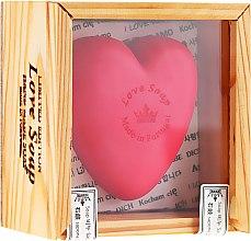 Parfémy, Parfumerie, kosmetika Přírodní mýdlo Srdíčko v dárkové krabičce - Essencias De Portugal Love Soap Wooden Box