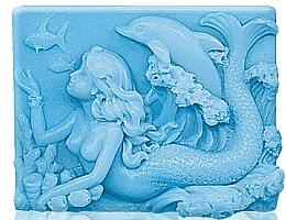 Parfémy, Parfumerie, kosmetika Glycerinové mýdlo Mořská víla - Bulgarian Rose Glycerin Fragrant Soap Blue Mermaid