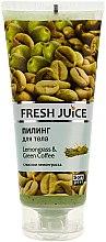 "Parfémy, Parfumerie, kosmetika Tělový peeling ""Lemongrass a zelená káva"" - Fresh Juice Lemongrass Green Coffee"