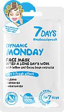 Parfémy, Parfumerie, kosmetika Pleťová maska po dlouhém pracovním dnu Dynamické pondělí - 7 Days Dynamic Monday