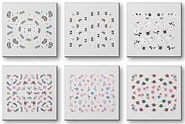 Parfémy, Parfumerie, kosmetika Nálepky na nehty, komplet 42959 - Top Choice Nail Decorations Stickers Set