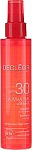 Parfémy, Parfumerie, kosmetika Olej na vlasy a tělo - Decleor Aroma Sun Expert Summer Oil Spf30