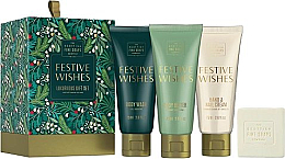 Parfémy, Parfumerie, kosmetika Sada - Scottish Fine Soaps Festive Wishes Luxurious Gift Set (sh/gel/75ml + b/cr/75ml + hand/nailcr/75ml + soap/40g)