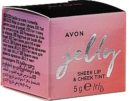 Parfémy, Parfumerie, kosmetika Tint želé na rty a tváře - Avon Jelly Sheer Lip & Cheek Tint