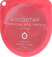 Parfémy, Parfumerie, kosmetika Hydrogelové náplasti pod oči Tropické ovoce, Pitaya - Kocostar Tropical Eye Patch Pitaya