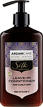 Parfémy, Parfumerie, kosmetika Nesmyvatelný kondicionér na vlnité vlasy - Arganicare Silk Leave-In Conditioner For Curly Hair